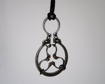 Industrial / Celtic Hardware Steampunk Rugged Rustic Postapocaliptic Circlip Necklace Pendant