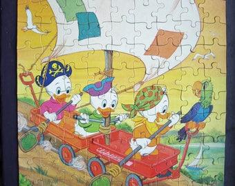 Vintage Walt Disney 1988 Huey, Dewey & Louie 100 Piece Puzzle By Golden