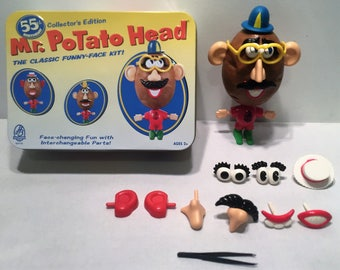 Mr. Potato Head 55th Birthday Collector's Edition In Metal Tin COMPLETE Great Condition FREE SHIPPING
