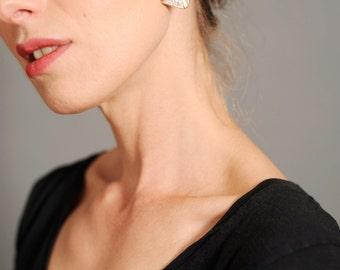 Vintage 60s earrings Art Deco earrings Statement earrings Gold and crystal earrings Vtg jewellery Vintage bijoux Art Deco jewels Vtg from 60