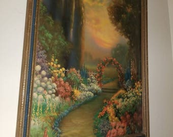 "rare R Atkinson Fox print ""Blooming Time"" Original Frame the Master art Publishers"
