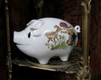 Piggy Bank, Mid Century, Vintage Money Box, Vintage Piggy Bank, Money Box, Pocket Money, Allowance Box, 1960s Piggy Bank, Pig Gift, Savings