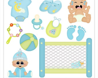 DIGITAL SCRAPBOOKING CLIPART - Baby Boy