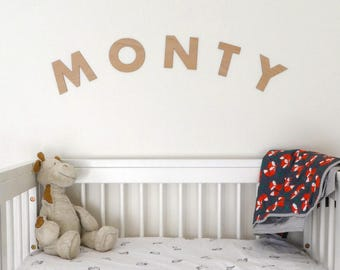 Wooden Name Decal | Baby Name Art for wall | Kids Room Decorations | Wood Wall Sign | Newborn Sign | Nursery Decorations | Baby Signs