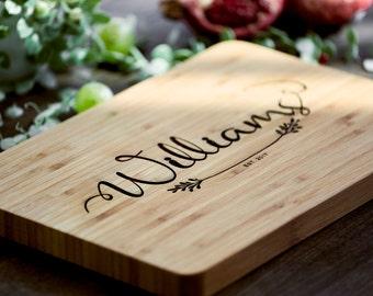 Anniversary Gift Cutting Board Housewarming Cutting Board For Couple Custom Wood Cutting Board Custom Housewarming Gift Bridal Shower #22