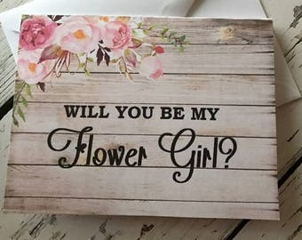 Will You Be My Flower Girl Card,  Flower Girl Proposal, Will You Be My Bridesmaid,  Maid of Honor, Matron of Honor, Jr Bridesmaid