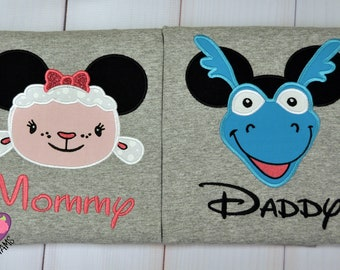 Disney -Doc - McStuffins -Inspired-Shirt -Mouse- Ears - Head -Embroidery- Applique -Clothes- Vacation-Lambie- Stuffy-Group- Family- Matching