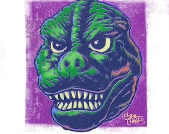 GODZILLA - Monster Head Print