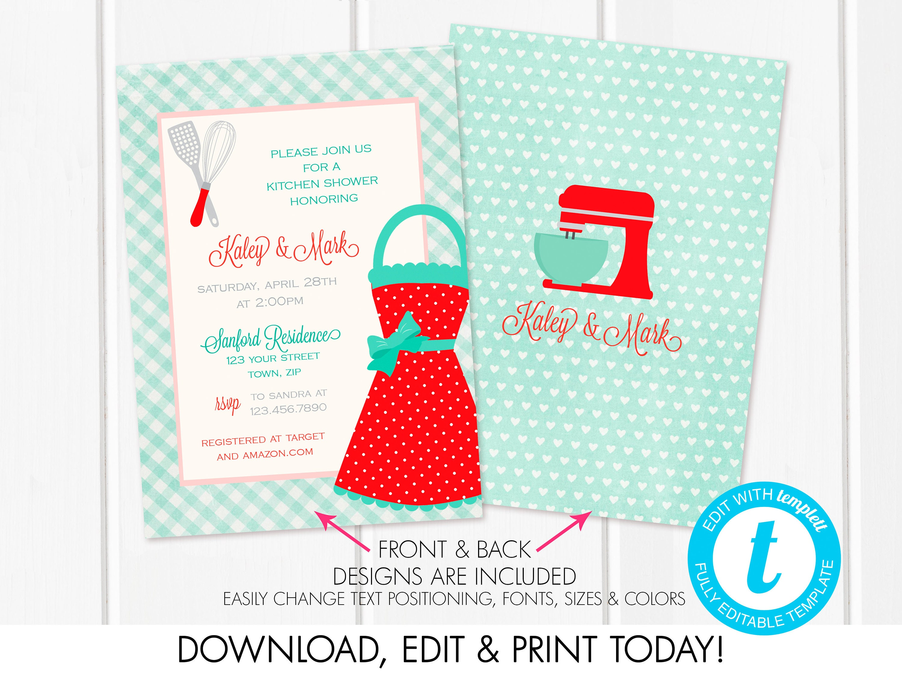 Pantry Printable Bridal Invitations | www.topsimages.com