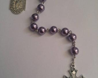 Purple Rosary Chaplet