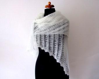 bridal lace shawl, ecru wrap, handknit wedding cover up