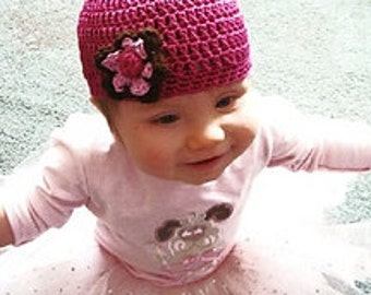 Infant to Adult Beanie, Crochet Pattern #442