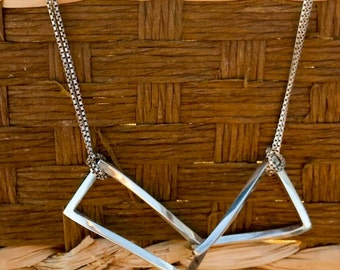 Playful Moving Rectangle Necklace