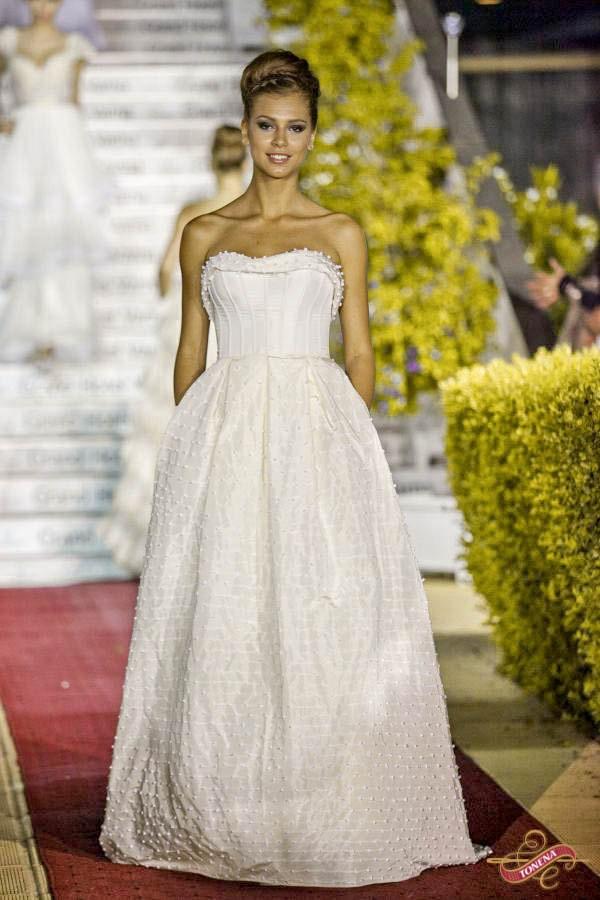 Modern Edwardian wedding dress taffeta Ivory Wedding Dress