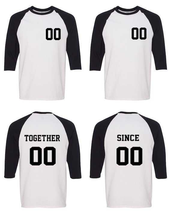King and Queen Together Since Matching Couple Straight Fit Unisex Raglan Tee l Y3mSqttbC