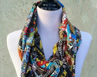 Marvel Comic Infinity Circle Scarf - Captain America, Spiderman, Thor, Iron Man, Hulk, Wolverine