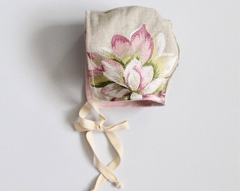 Baby girl bonnet 6-9 Months old *one of a kind