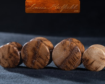 """Made to order White Oak Burl Plugs 8g to 2 3/4"""" (69.8 mm)"""
