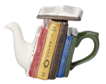 The 'Poetry Books' one cup Teapot