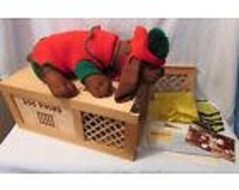 1985 Collector Edition POUND PUPPY in Wood Crate Signed #11/500 w COA, Coat, etc