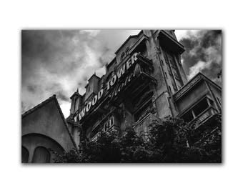 Tower of Terror, Hollywood Tower Hotel, Disney art, Disney decor, kids room decor, Disney studios, MGM, Disneyworld pictures, greenpix photo