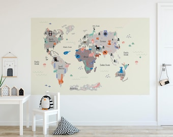 World map wallpaper etsy gumiabroncs Gallery