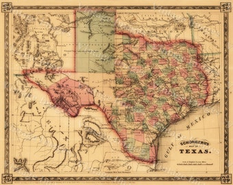 1866 texas map old west map antique texas map restoration texas map giant 1866 old texas map old west map antique restoration style texas wall map gumiabroncs Gallery