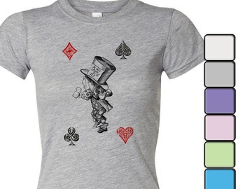 Alice in Wonderland T-shirt, Alice in Wonderland Shirt - Women's Shirt Tee, Alice in Wonderland by Lewis Carroll Shirt, Hatter