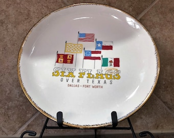 Vintage Six Flags Over Texas Plate