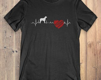 Irish Wolfhound Dog T-Shirt Gift: Irish Wolfhound Heartbeat