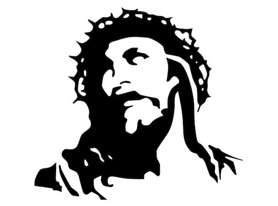 Image Of Jesus Decal. Portrait Of Jesus Christ Sticker. Face