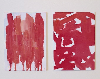 Pink series: small abstract, painting set