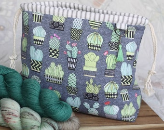 PRE-ORDER!!! Cactus Drawstring Project Bag