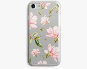 Light Pink Flowers iPhone 7 Plus Case iPhone 6 Case Flower iPhone 7 Case iPhone 6 Plus Case 5s 5