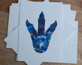 Watercolor Dinosaur Footprint Print