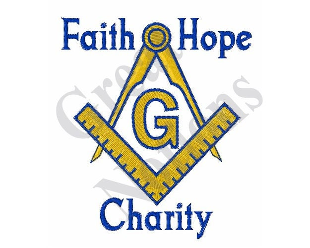 Faith Hope Charity Machine Embroidery Design From