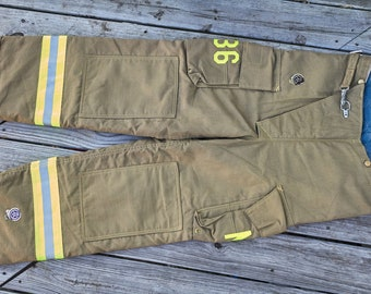 Firemans Turn out pants unused 36 x 30 NOS