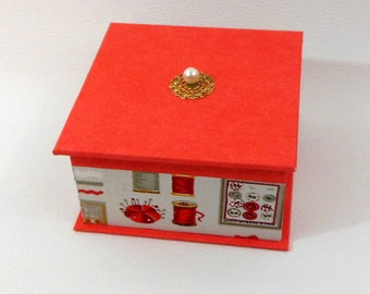 JEWELRY box orange - orange jewelry box