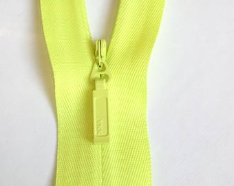 Sturdy yellow lemon - 20 cm strong closure and invisible YKK zipper