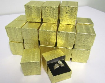 25 count - Gold Foil Ring Boxes