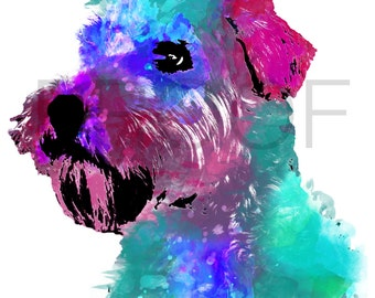Wheaten Terrier || Wheaten || Harry the Wheaten || Wheaten Art || Dog Art || Watercolor Dog Art || Watercolor Dog ||  Terrier Art