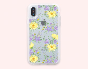 Flowers iPhone X Case iPhone 8 Plus Case iPhone 7 Case iPhone 7 Plus Case iPhone 8 Case Case X iPhone Bumper Case Clear Silicone CGD1216