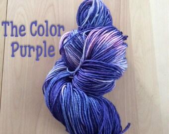 Hand dyed yarn, DK yarn, BFL superwash wool, ready to ship