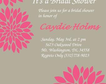 DIY DIGITAL PRINT Bridal/Baby/Engagement Shower Invitation