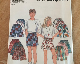 9052 Vintage Simplicity Girls and Boys Shorts Sewing Pattern P112