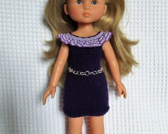 The sweethearts doll clothes, dress purple