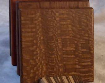 Coaster Set - Zebra wood wood Base - CS 5