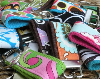 10 BEAUTIFUL MINI-MINI Keychains-That's 3.20 Per Fob-Perfect Holiday Gift
