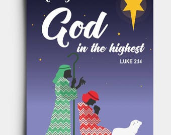 Glory to God - Shepherds - Christmas Card