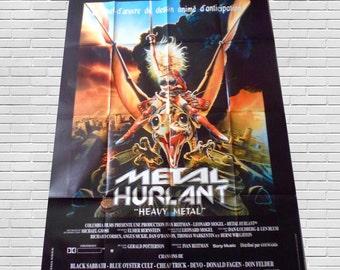 1981 heavy metal original movie poster